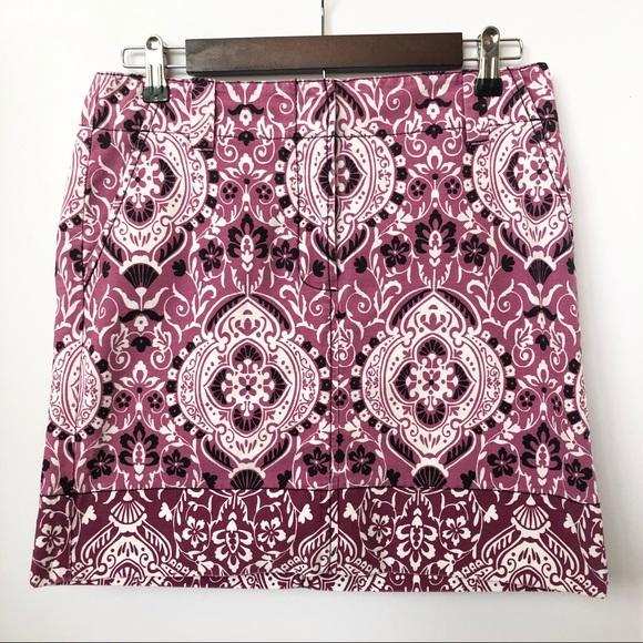 LOFT Dresses & Skirts - Ann Taylor Loft Purple/Black Skirt • Size 4